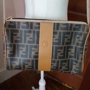 FENDI Vintage authentic zucca logo shoulder bag